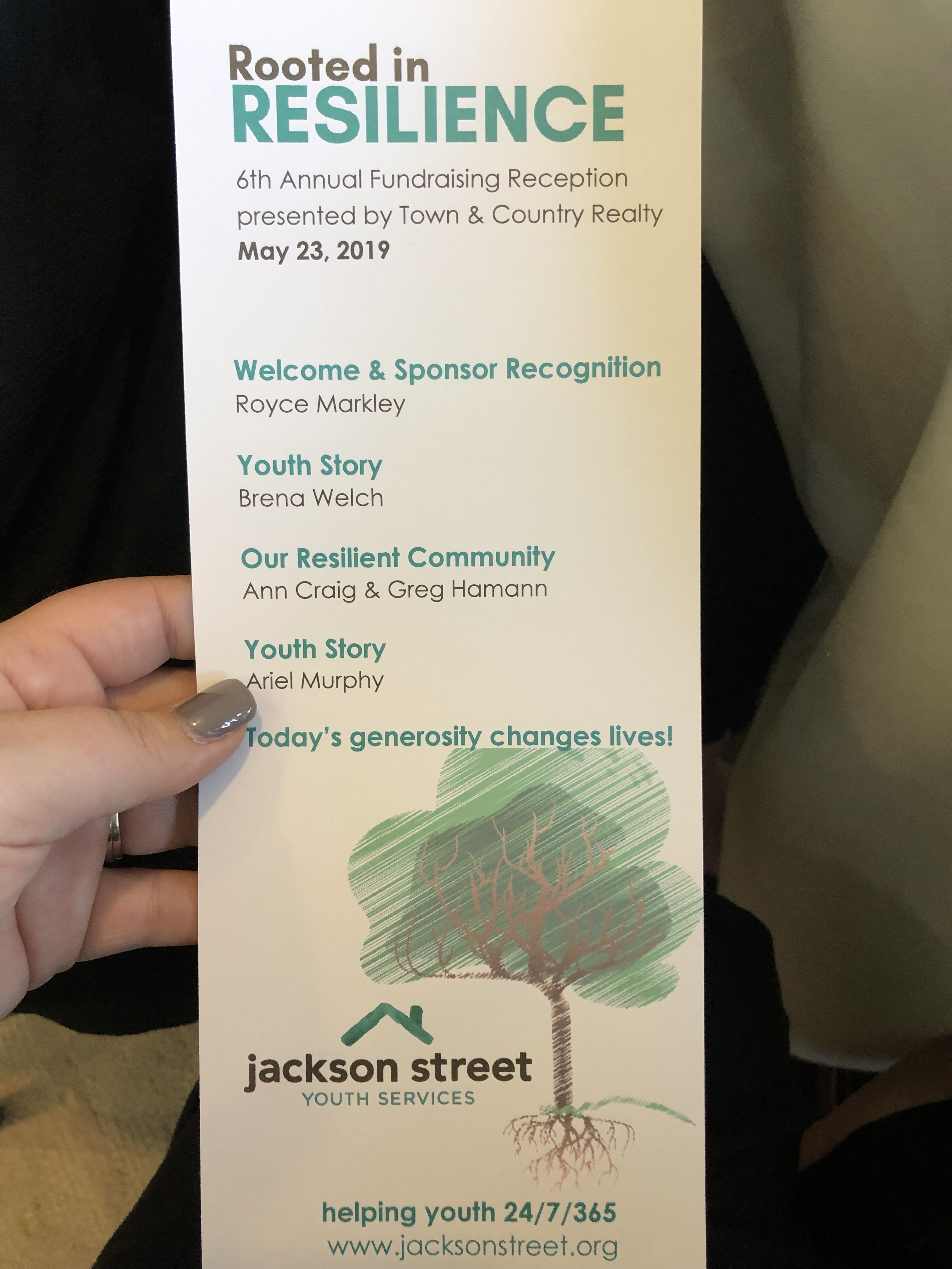 Jackson Street Youth Services fundraiser