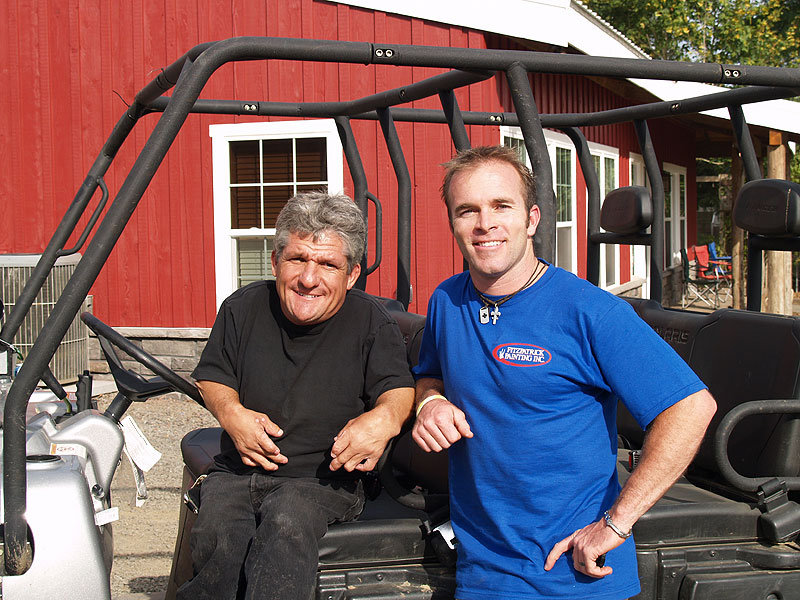 Owner Tim Fitzpatrick with Matt Roloff of Little People Big World
