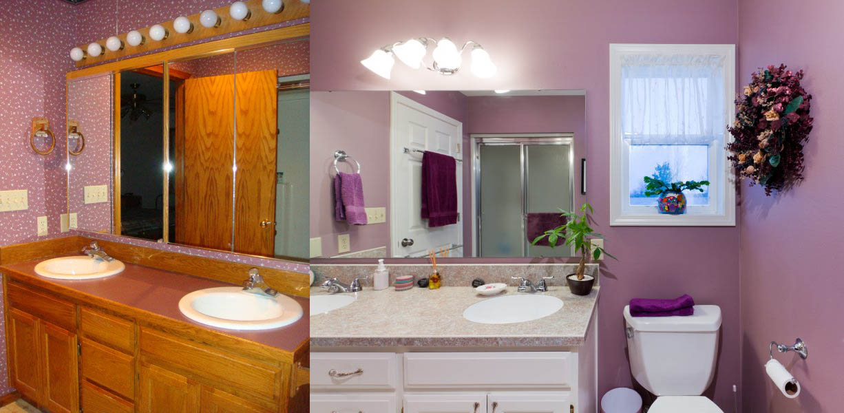 Bathroom Before and After | Fitzpatrick Painting