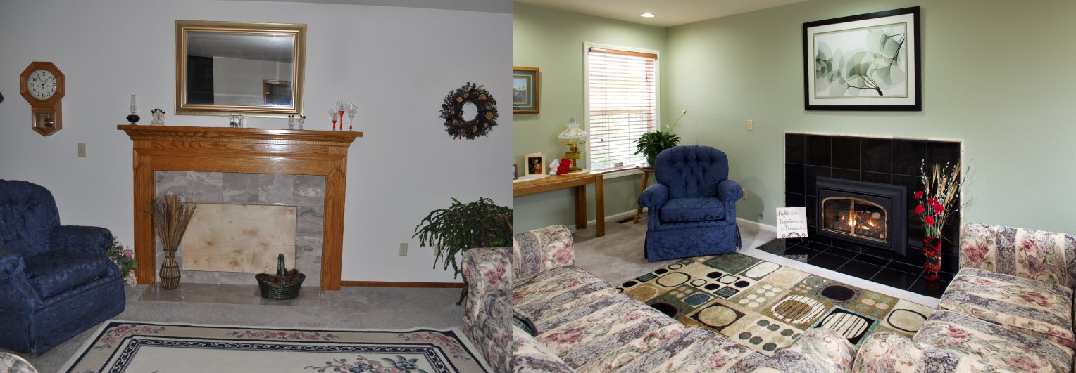 Living Room Before and After | Fitzpatrick Painting