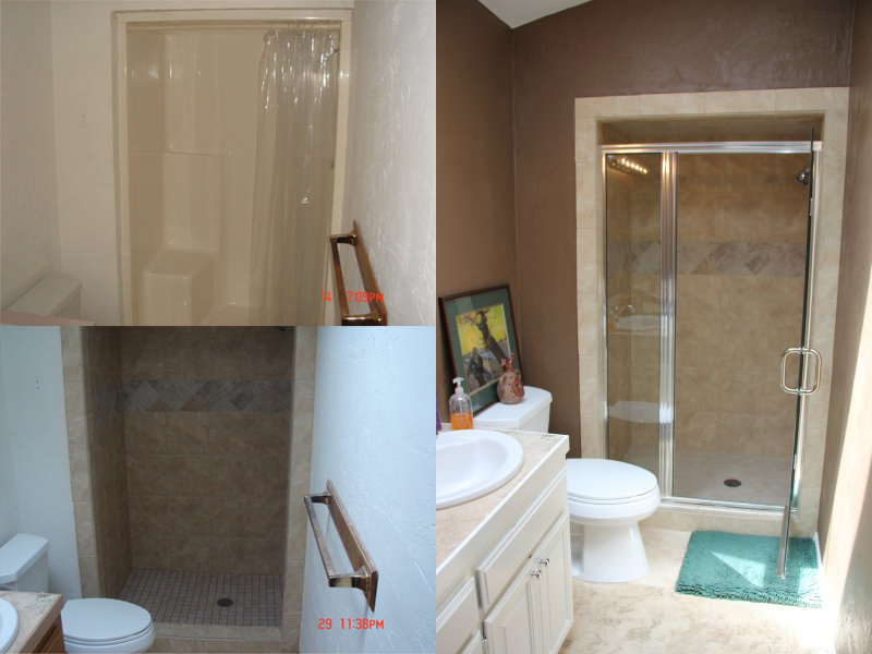 Shower Remodel Process