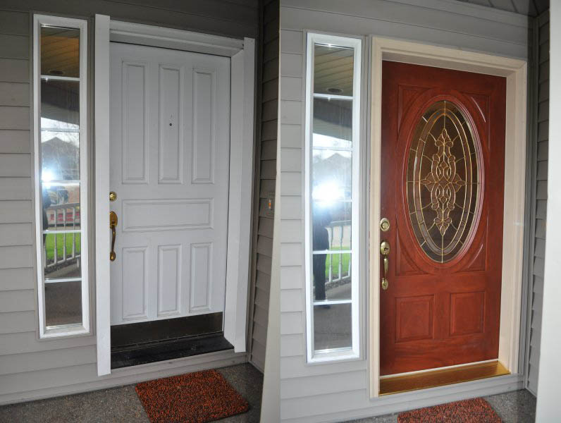 Front Door Before and After | Fitzpatrick Painting