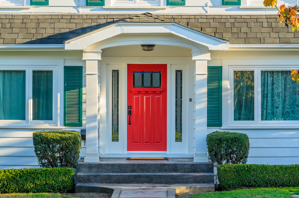 how to install molding around front door outside